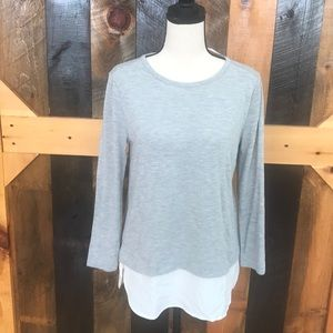 New with tags J Crew Mercantile grey top, size S